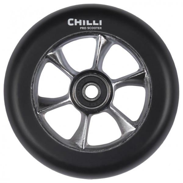 Chilli Wheel-Reaper-110mm Black PU raw core
