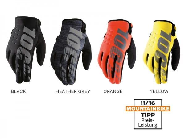 100% Brisker Cold Weather Glove, black, XL