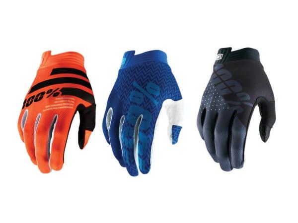 100% iTrack Youth Glove (FA18), Black/Charcoal, L