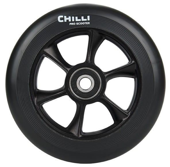 Chilli Wheel-turbo-110mm black PU/black core